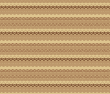 Wheat Fields Zigzag Horizontal Stripe © Gingezel™ 2012 fabric by gingezel on Spoonflower - custom fabric