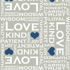 Love is Everything in Gray and Blue