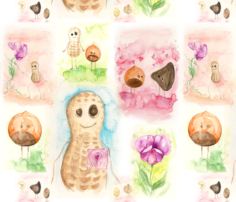 Peaburt fabric by asiaburmin on Spoonflower - custom fabric
