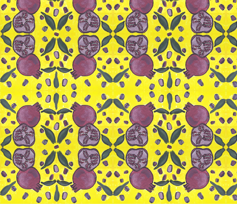 Pomegranate fabric by brandymiller on Spoonflower - custom fabric