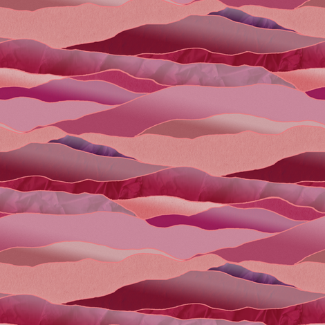 Approaching Dusk in the Desert! - Leadlight Landscape fabric by rhondadesigns on Spoonflower - custom fabric