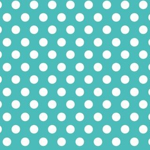 Polka Dots Turquoise