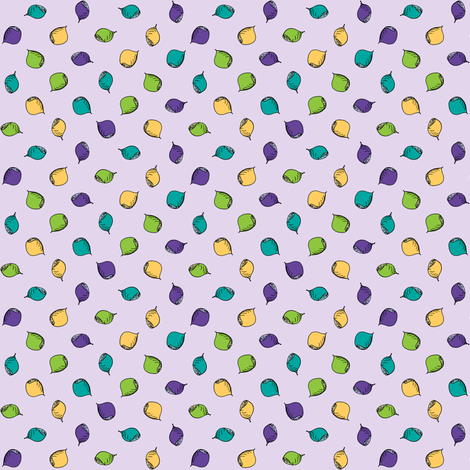 Nuts Are Just Dotty About Lilac! fabric by rhondadesigns on Spoonflower - custom fabric