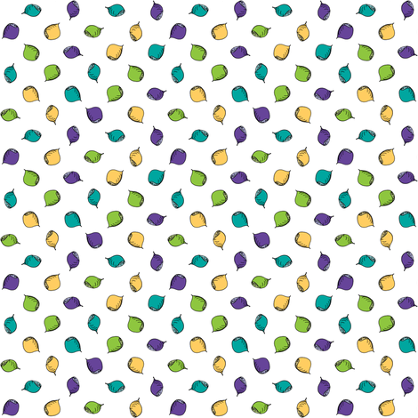 Nuts Are Just Dotty! fabric by rhondadesigns on Spoonflower - custom fabric