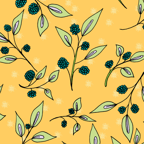Brazenberries in Sparkling Sunlight - Large fabric by rhondadesigns on Spoonflower - custom fabric
