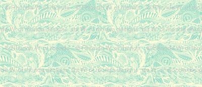 Organic Landscape - Cream on Mint.