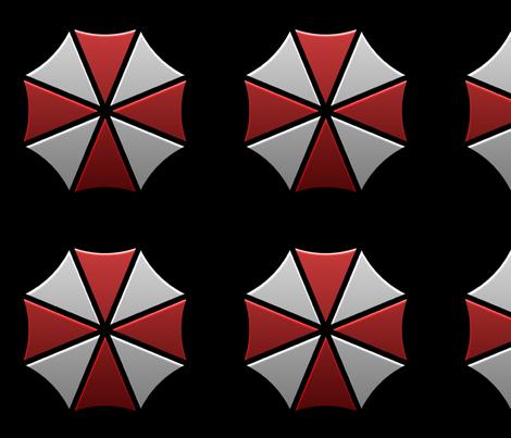 Umbrella Corporation  fabric by princess_sewnsew on Spoonflower - custom fabric