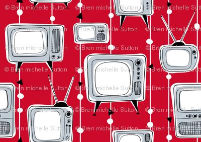 Retro Televisions Red/Grey