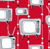 Retro Televisions Red/Grey