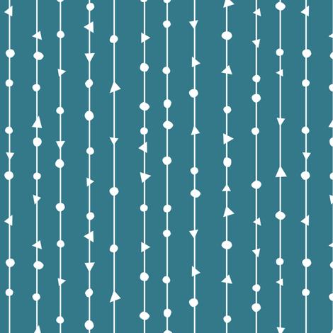 Teal Blue Coordinating Design fabric by gobennygo on Spoonflower - custom fabric