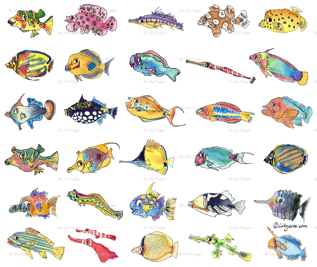 30 Cute Cartoon Tropical Fish Wallpaper