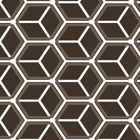 Honeycomb Motif 23 fabric by animotaxis on Spoonflower - custom fabric