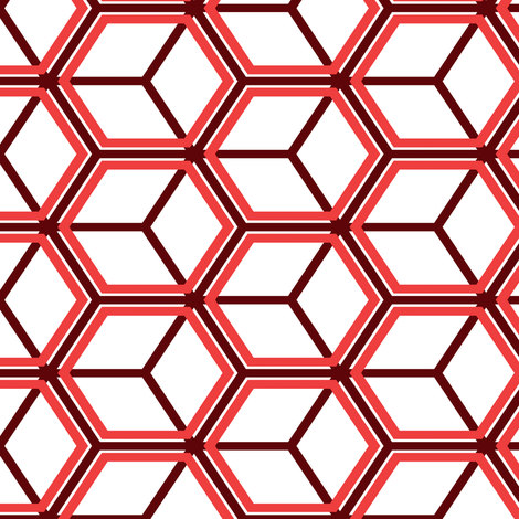 Honeycomb Motif 26 fabric by animotaxis on Spoonflower - custom fabric
