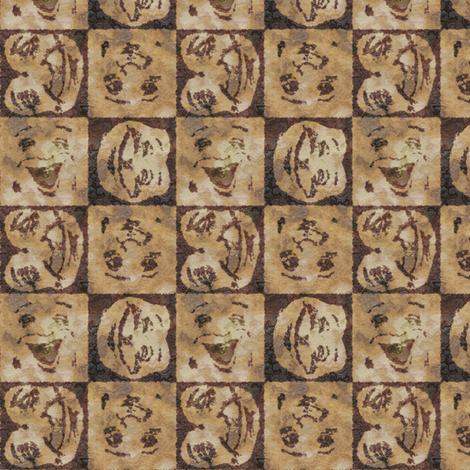 Happy Faces: Caveman Style_small fabric by tallulahdahling on Spoonflower - custom fabric