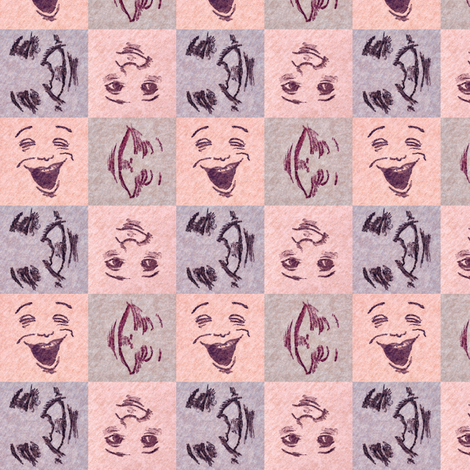 Happy Faces_ 4_small fabric by tallulahdahling on Spoonflower - custom fabric