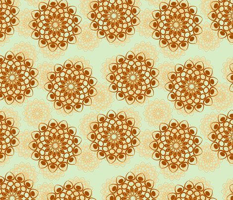 brown and beige flowers pale version fabric by suziedesign on Spoonflower - custom fabric