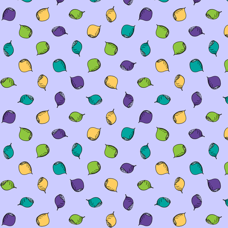 Nuts Are Just Dotty About Mauve! fabric by rhondadesigns on Spoonflower - custom fabric
