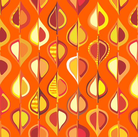 ever-autumn (orange) fabric by bippidiiboppidii on Spoonflower - custom fabric