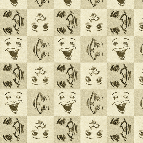 Happy Faces_3_small fabric by tallulahdahling on Spoonflower - custom fabric