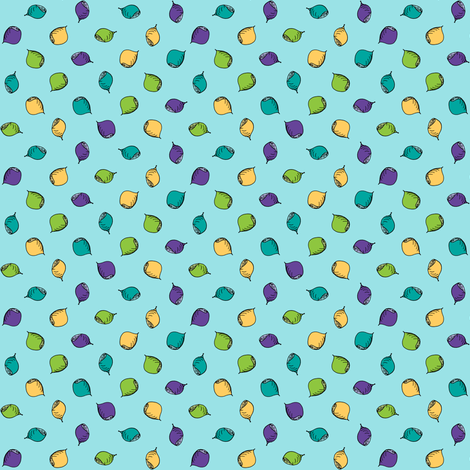 Nuts Are Just Dotty About Blue! fabric by rhondadesigns on Spoonflower - custom fabric