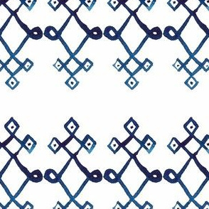 cestlaviv_mystical knot [blue on white]
