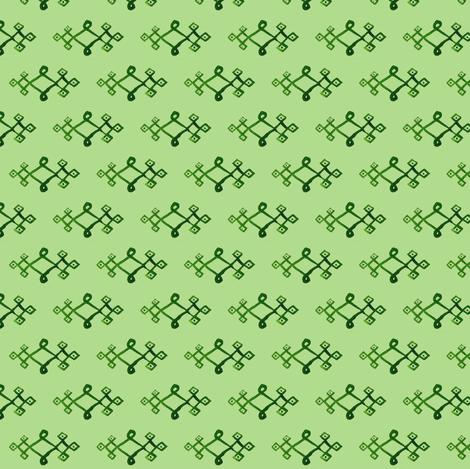 cestlaviv_mystical knot greengreen fabric by cest_la_viv on Spoonflower - custom fabric