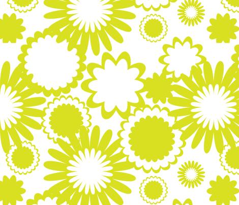 Apple Green Flowers fabric by bbsforbabies on Spoonflower - custom fabric