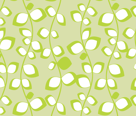 Apple Green Leaves fabric by bbsforbabies on Spoonflower - custom fabric