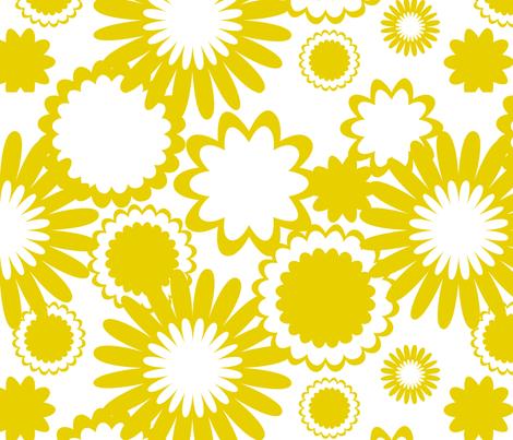 Golden Rod Flowers fabric by bbsforbabies on Spoonflower - custom fabric