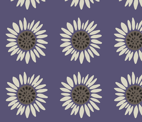 chickensunflower fabric by alyson_chase on Spoonflower - custom fabric
