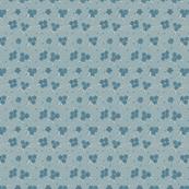 Flower Paisley Dot blue