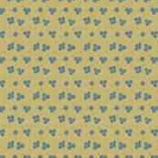Flower Paisley Dot green
