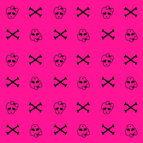 Pink Girly Skulls