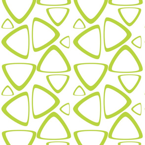 Apple Green Triangles