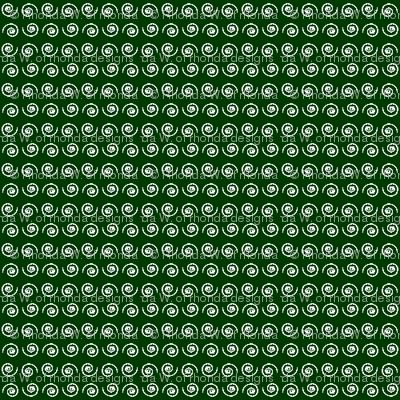 Snail on Dark Forest Green