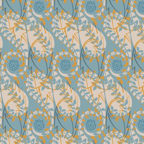 Paisley Block Print blues fabric by modernprintcraft on Spoonflower - custom fabric