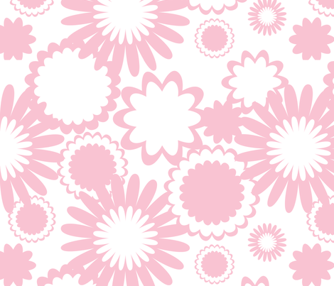Pink Flowers fabric by bbsforbabies on Spoonflower - custom fabric