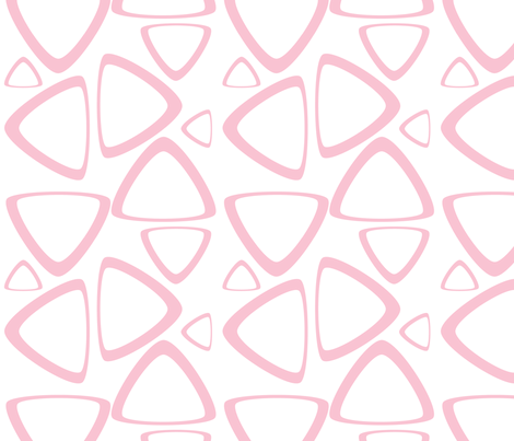 Pink Triangles fabric by bbsforbabies on Spoonflower - custom fabric