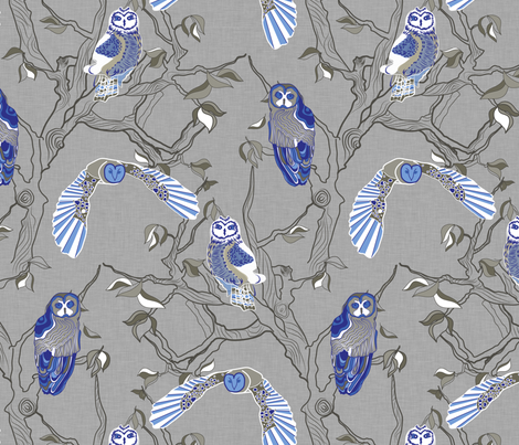 Owls fabric by newmomdesigns on Spoonflower - custom fabric