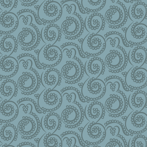 Paisley Bubbles blues fabric by modernprintcraft on Spoonflower - custom fabric
