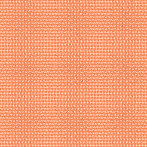 Snail on Dark Apricot. fabric by rhondadesigns on Spoonflower - custom fabric