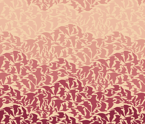 Flight of Pigeons (red) fabric by ceanirminger on Spoonflower - custom fabric
