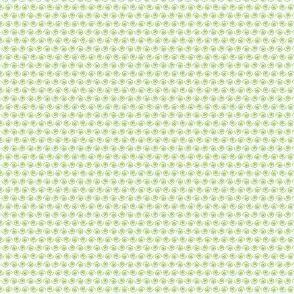 Lime Green Snail on White.