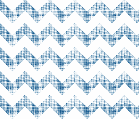Chevron Sketch Navy fabric by honey&fitz on Spoonflower - custom fabric