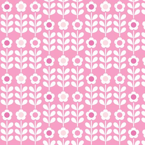 Pink Multi Flower fabric by mondaland on Spoonflower - custom fabric