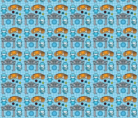 Greetings, Programs! (small) fabric by studiofibonacci on Spoonflower - custom fabric