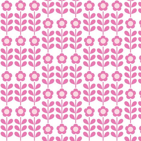 Pink Flower fabric by mondaland on Spoonflower - custom fabric