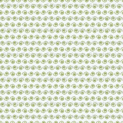 Garden Green Snail on White.