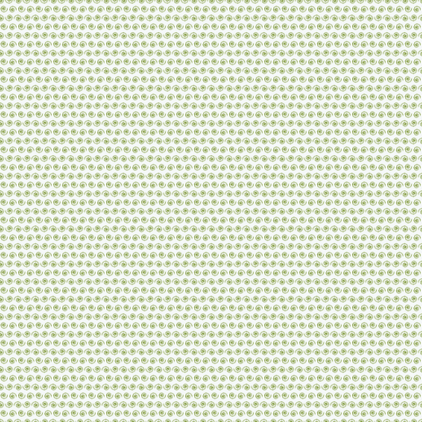 Garden Green Snail on White. fabric by rhondadesigns on Spoonflower - custom fabric