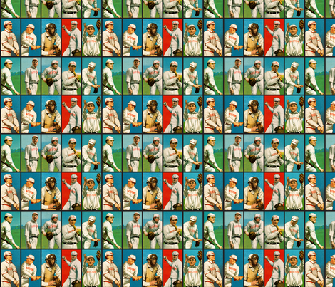 1909 Baseball Cards fabric by studiofibonacci on Spoonflower - custom fabric